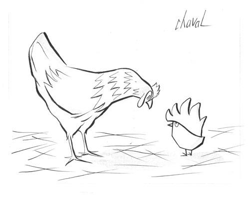 Chaval - chapeau-coq