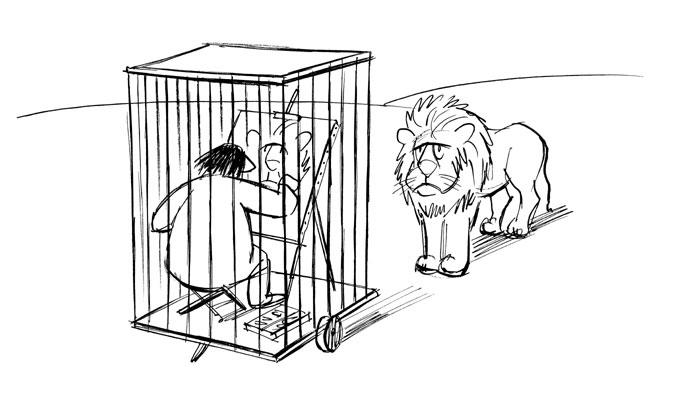 Chaval - lion