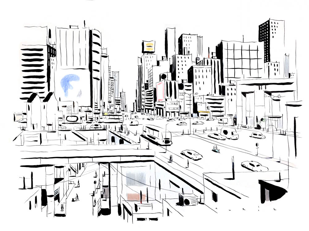 François Avril - Tokyo-skyline