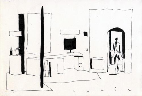 François Avril - atelier