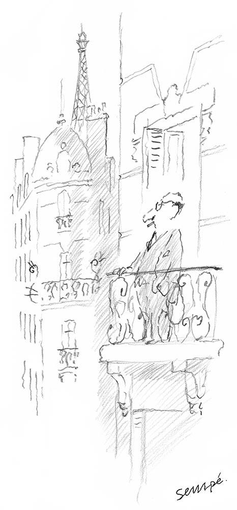 Jean-Jacques Sempé - Balcon Paris