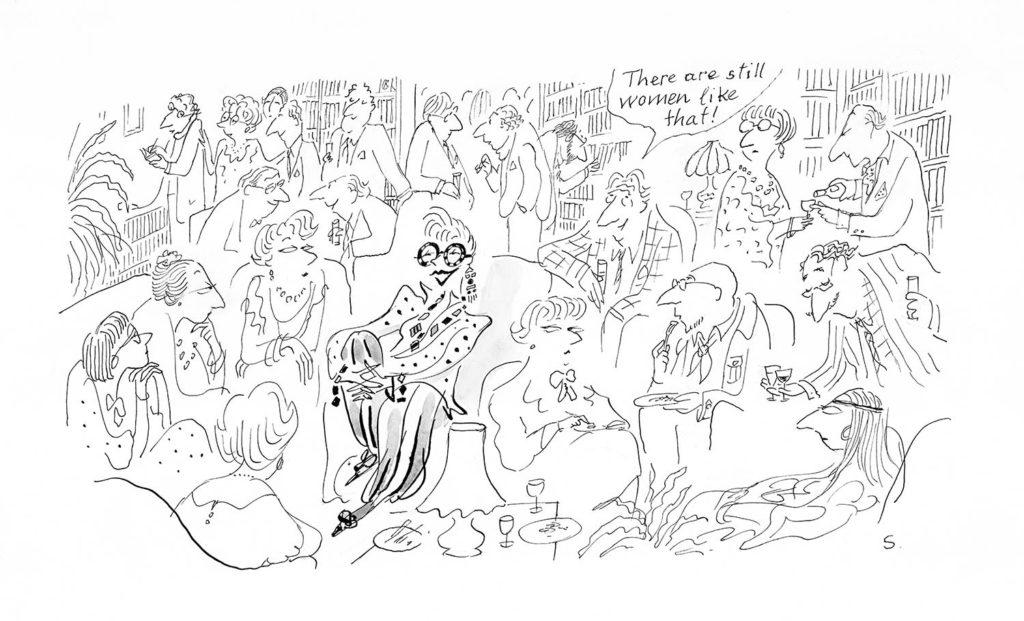 Jean Jacques Sempé - Dessin reproduit dans le récit dessiné de Sempé 'Par Avion' à la page 21
