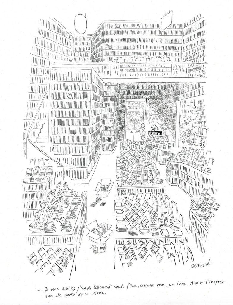 Jean Jacques Sempé - 'La-librairie'