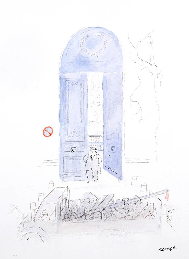 Jean-Jacques Sempé - La porte bleue