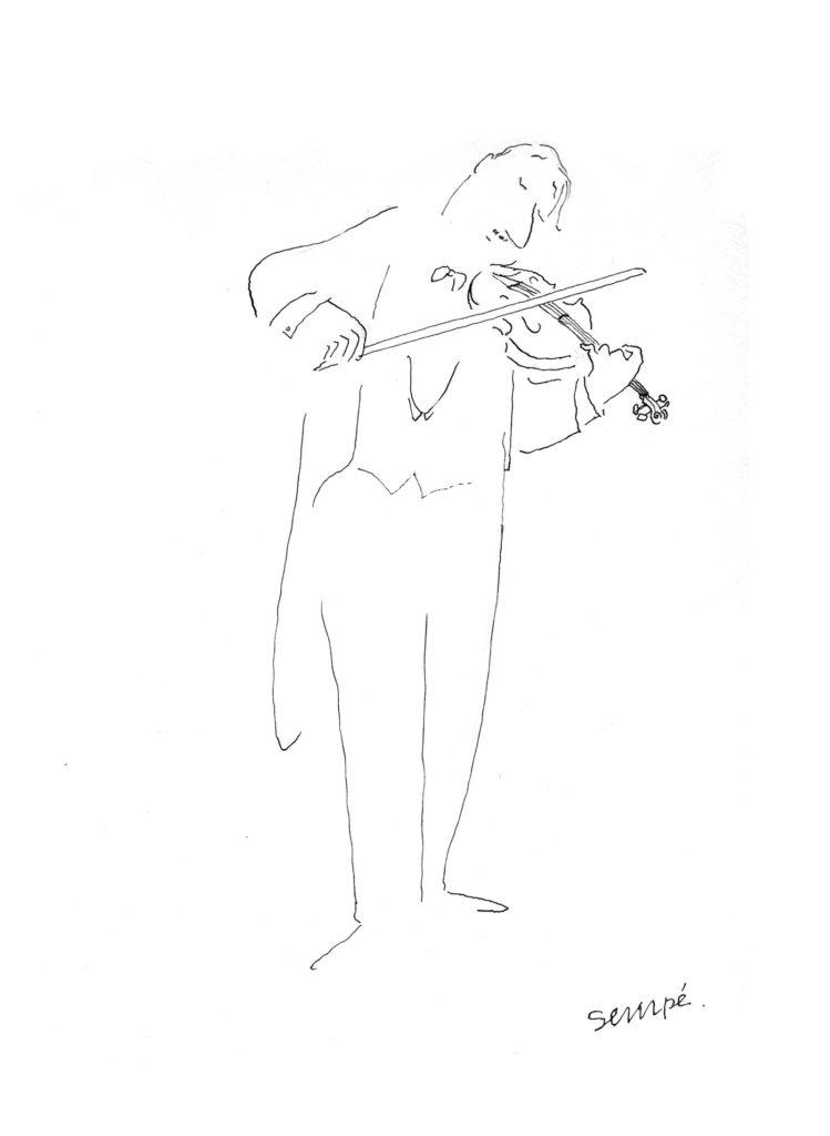 Jean Jacques Sempé - Les-musiciens-violoniste