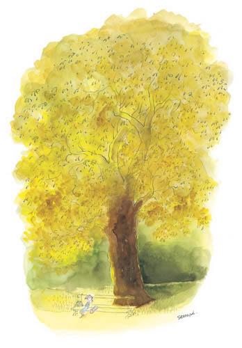 Jean Jacques Sempé - arbre-jaune