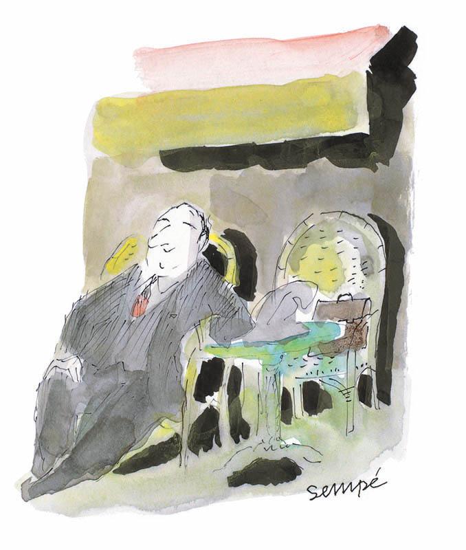 Jean Jacques Sempé - en-terrasse