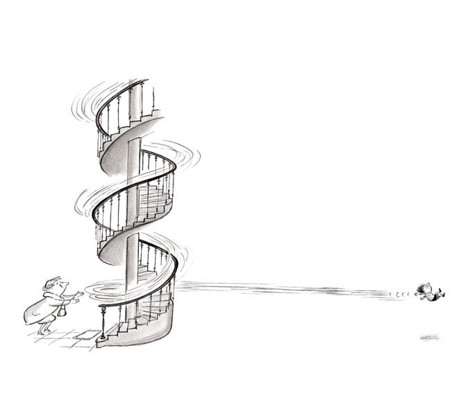 Jean Jacques Sempé - escalier