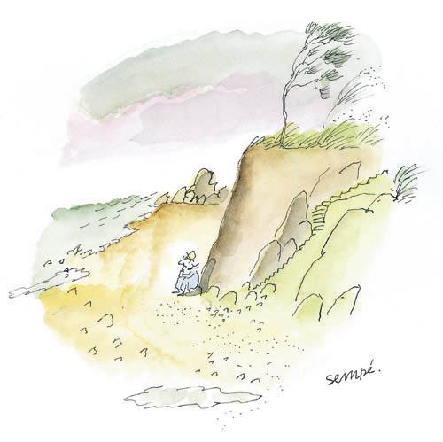 Jean Jacques Sempé - falaise-plage