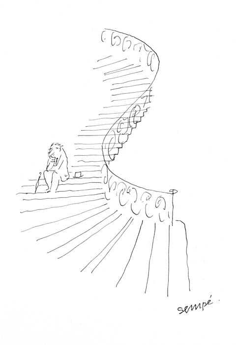Jean Jacques Sempé - penseur-escaliers