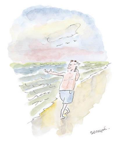 Jean Jacques Sempé - portable-plage