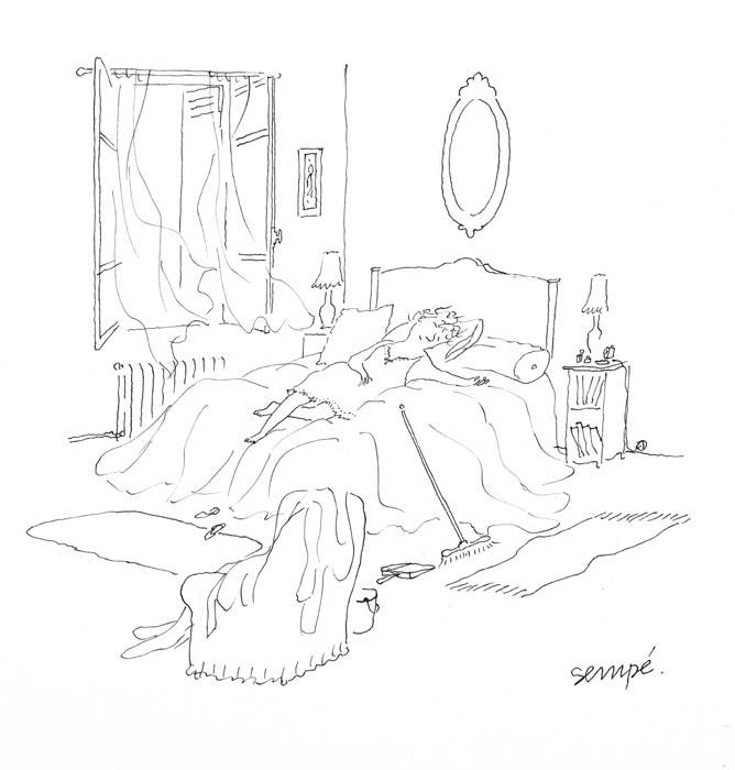 Jean Jacques Sempé - reveuse-lit
