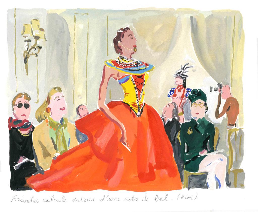 Jean-Philippe Delhomme - Dessin reproduit dans Vogue