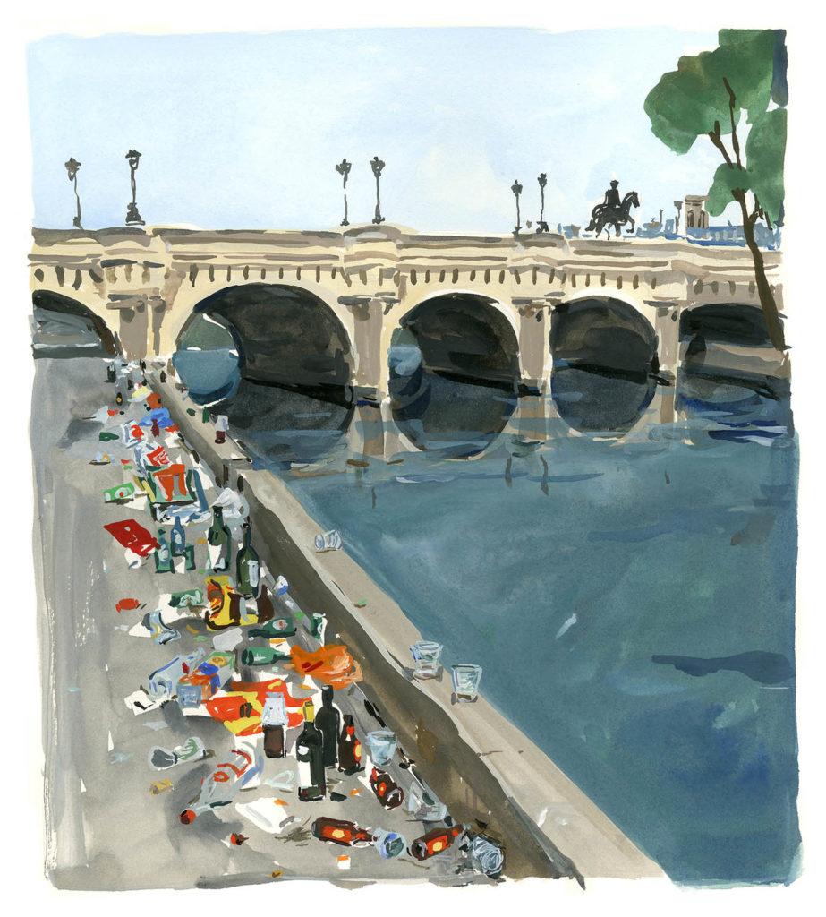 Jean-Philippe Delhomme - Dessin reproduit dans le livre 'A Paris Journal' (August editions, 2016) à la page 49