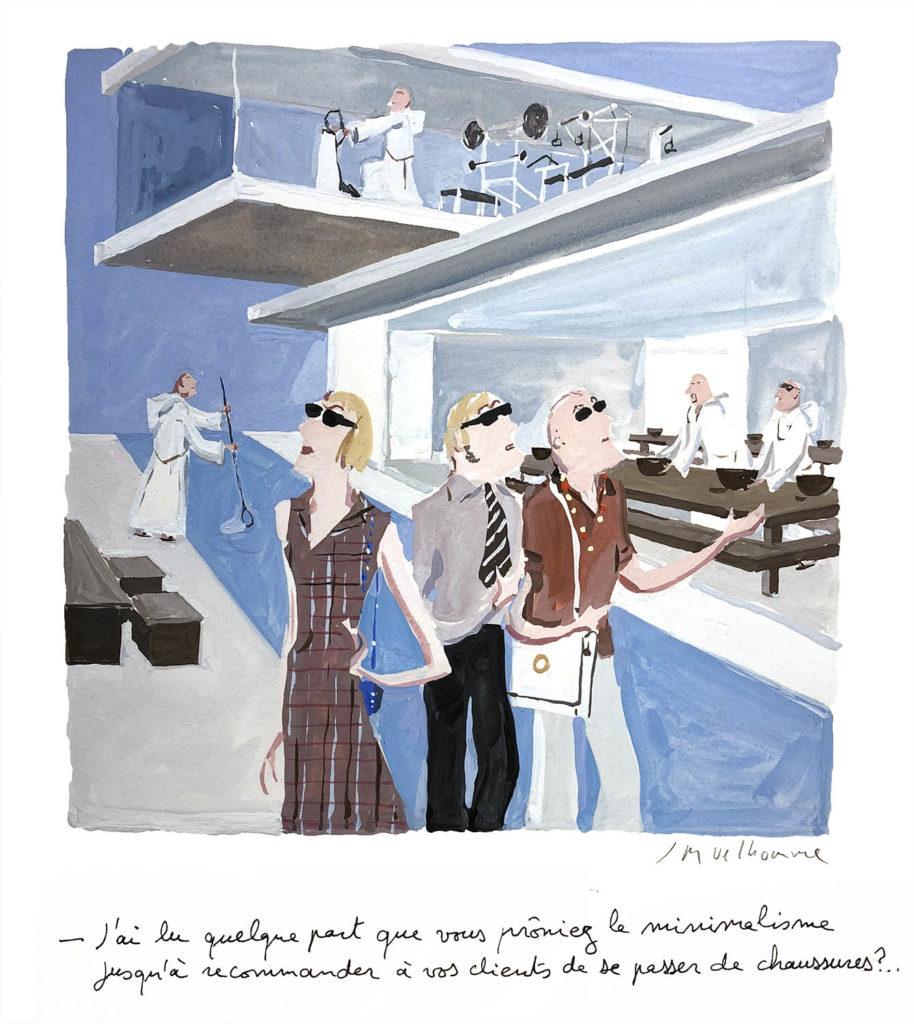 Jean-Philippe Delhomme - Dessin reproduit dans le livre 'Design Addicts (Thames &Hudson, 2007) à la page 11
