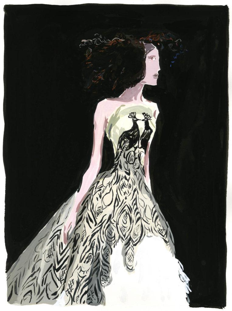Jean-Philippe Delhomme - Dessins de mode - McQueen_rt
