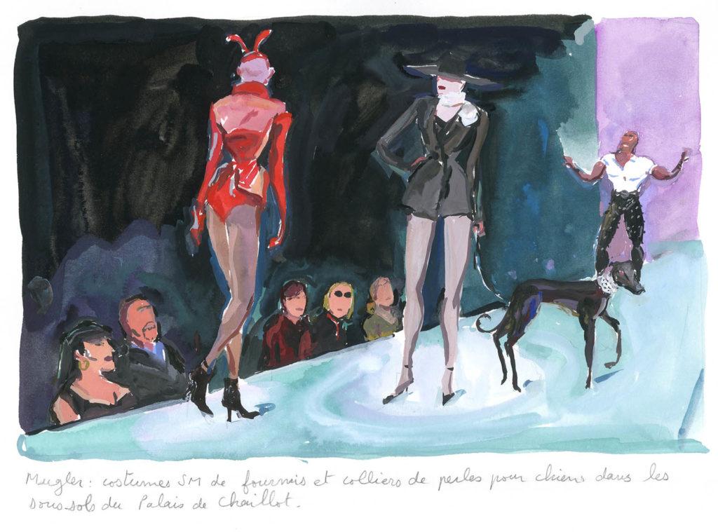Jean-Philippe Delhomme - Dessins de mode - Vogue.Mugler_001