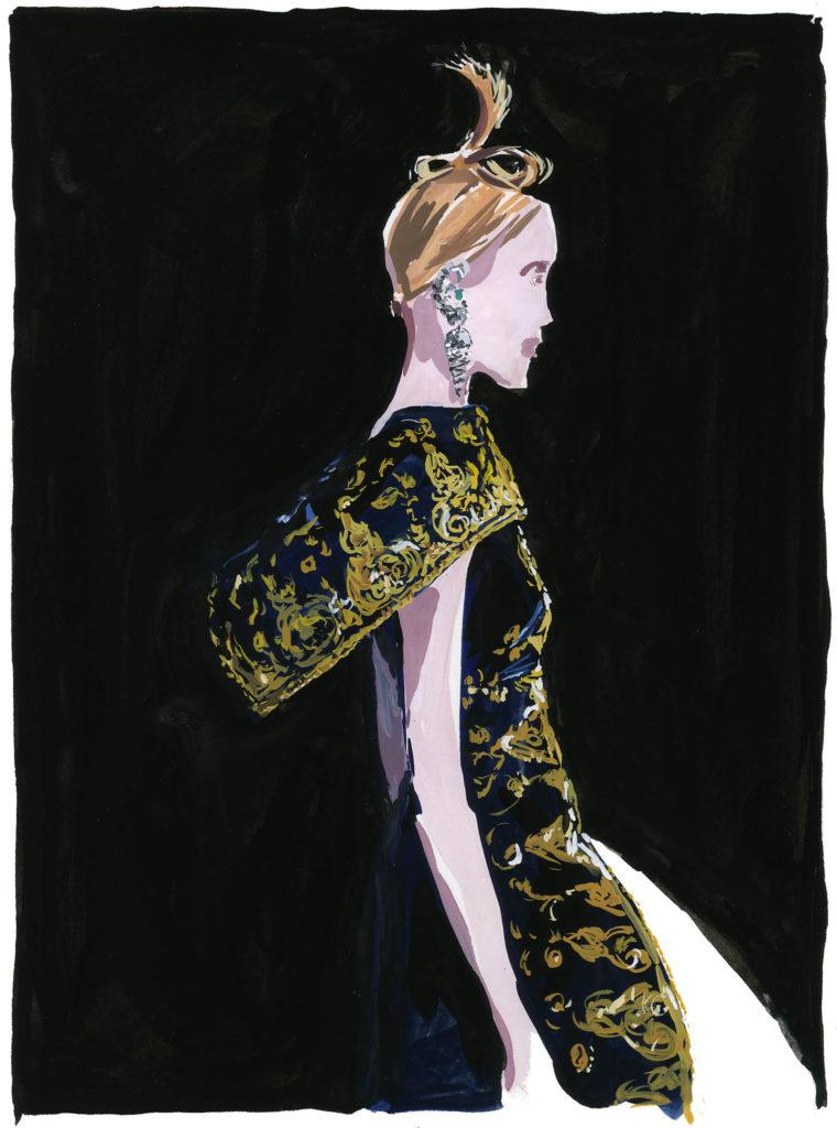 Jean-Philippe Delhomme - Dessins de mode - mcqueen2