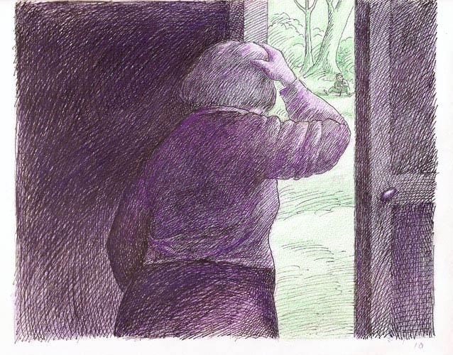 Roland Topor - la-porte