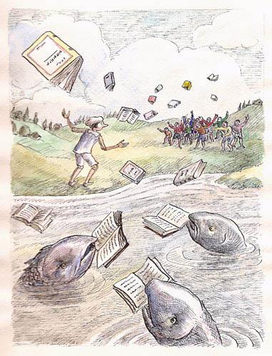 Roland Topor - poissons-livres