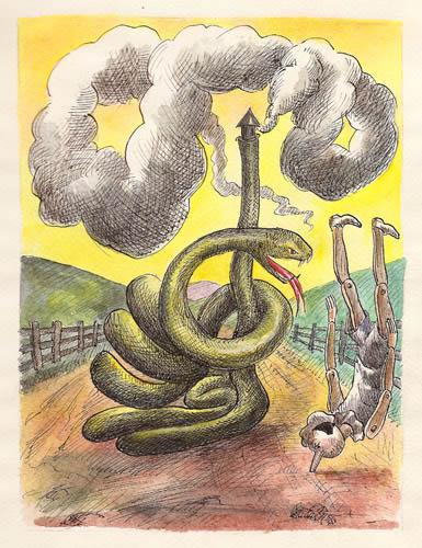 Roland Topor - serpent-cheminee
