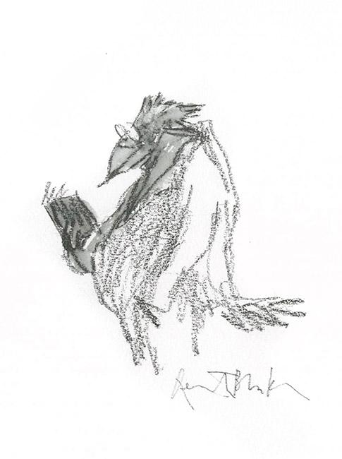 """""""Nous les oiseaux"""" de Quentin Blake, préface de Daniel Pennac, Gallimard, 2005 (version). Format encadré :  300 X 300 mm. © Quentin Blake."""
